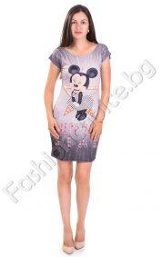 """Къса лятна дамска рокля с """"Мики Маус"""""""