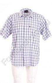 Мъжка карирана риза с джобче в големи размери