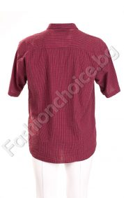 Стилна мъжка риза на дребно каре с джобче/големи размери/