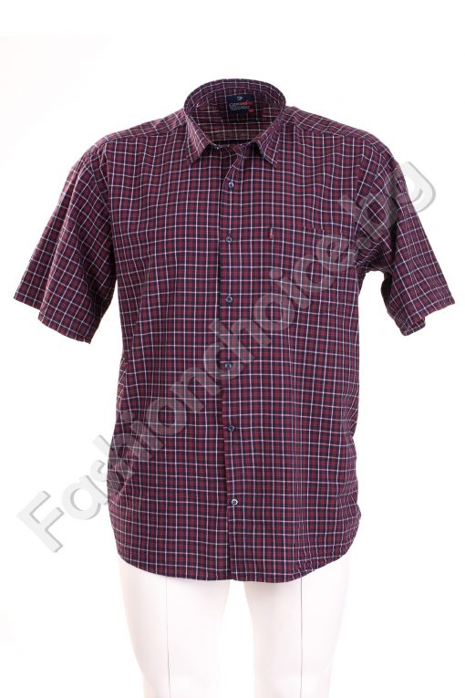 Елегантна мъжка риза на каре с джоб /3XL и 4XL /