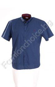 Стилна мъжка риза с къс ръкав в два цвята /6XL,7XL,8XL/