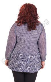 Кокетна макси блуза с шифонени ръкави с раздвижена предна част