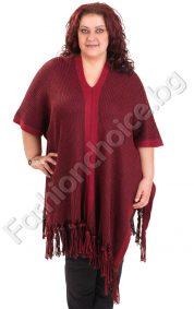 Прелестно макси пончо с ресни в пет цвята/плетиво/