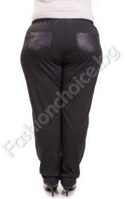 Дълъг макси панталон тип клин с джобчета от промазка