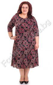 Невероятна макси рокля на големи цветя в три цвята