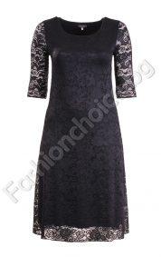 Дантелена дамска рокля за официални поводи /XL, XXL/