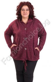Практична жилетка за макси дами с издължена задна част