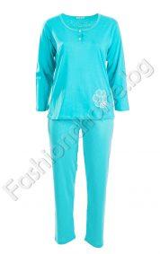 Сладка макси пижама с две копченца и нежно цветенце