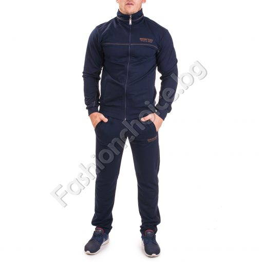 Спортен мъжки комплект с висока яка в два цвята
