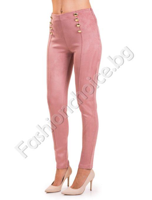 Модерен дамски панталон тип клин с висока талия