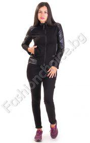 Хит модел дамски екип от две части в черен цвят
