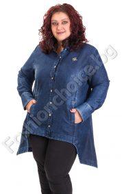 Актуален модел макси дънкова риза тип туника