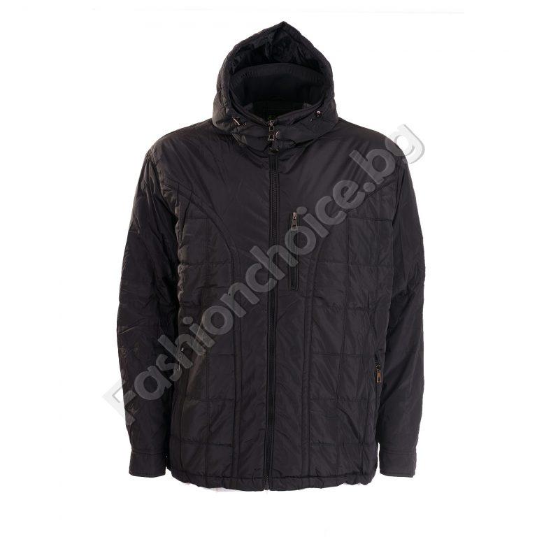 Топло мъжко яке за зимата с махаща се качулка /големи размери/