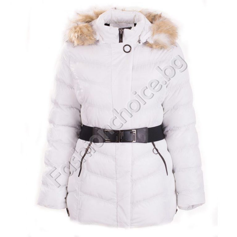 Плътно дамско яке в три цвята /големи размери/