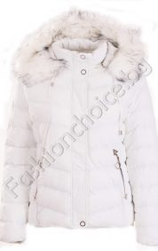 Топло късо дамско яке с метални декорации /големи размери/