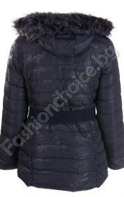 Зимно дамско яке с камуфлажен ефект /големи размери/