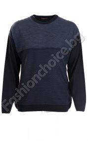 Мъжки вълнен макси пуловер в актуални зимни цветове