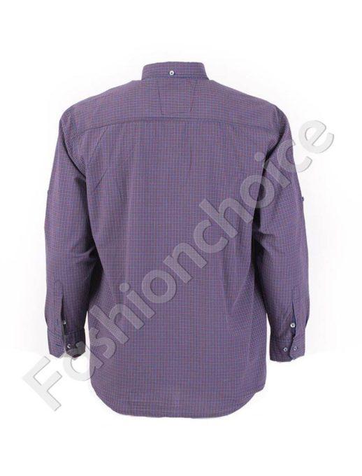 Стилна мъжка риза на ситно райе-код 834-1