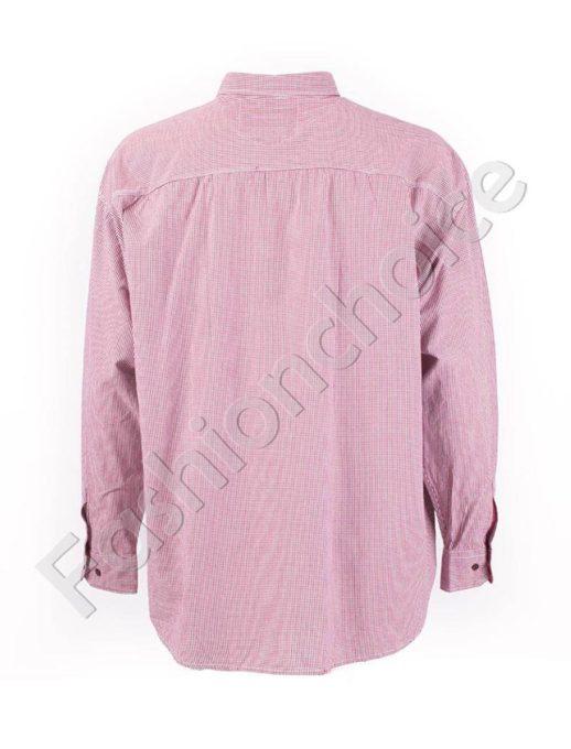 Мъжка макси риза в кариран десен-код834-7