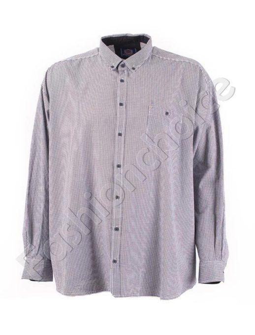 Мъжка макси риза на ситно каре в черно-код 834-8