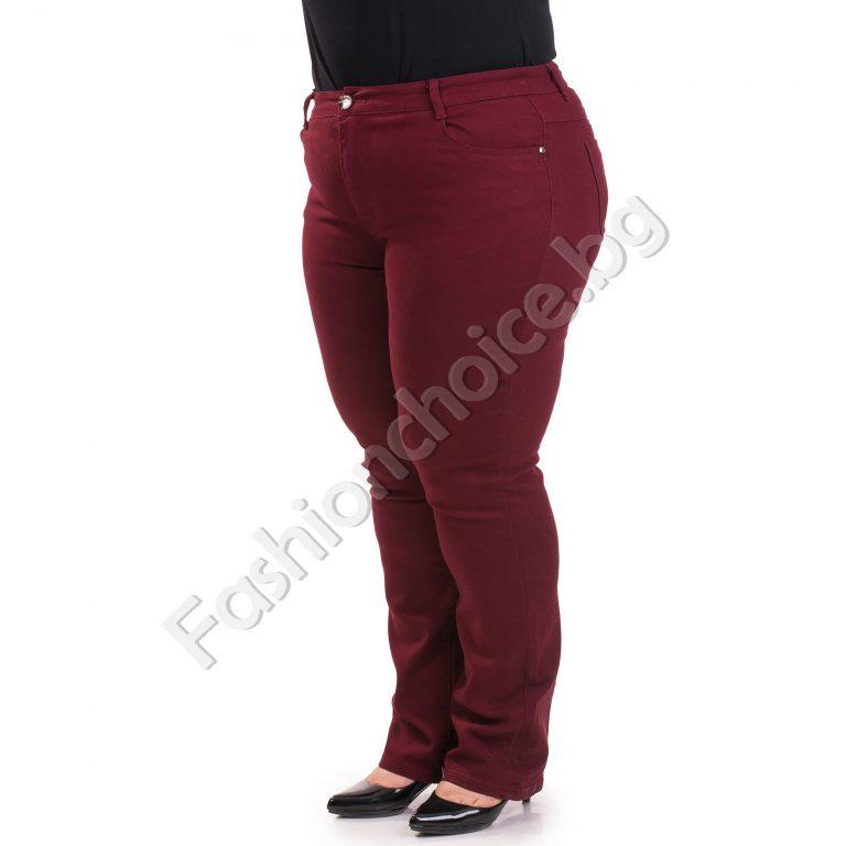 Удобен панталон в четири цвята с джобчета /макси размер/