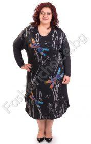 Красива макси рокля с цветни водни кончета