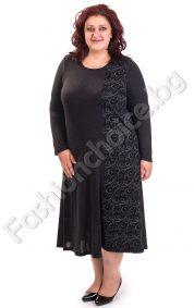 Практична и удобна макси рокля /3XL, 4XL/