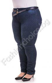 Джинсов панталон на фигурки тип клин /големи размери/