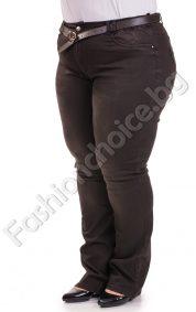 Изчистени плътни дамски дънки/големи размери/