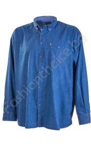 Мъжка риза в светъл или тъмен деним /макси размер/