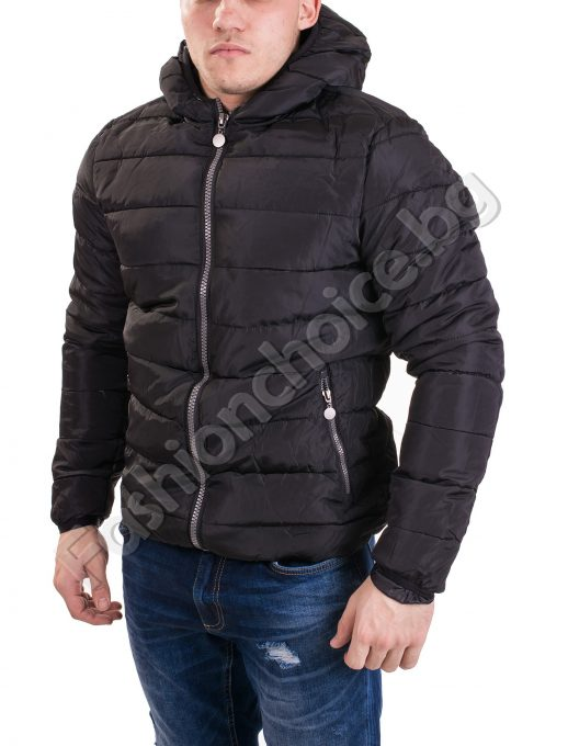 Топло шушляково мъжко яке с качулка в два цвята