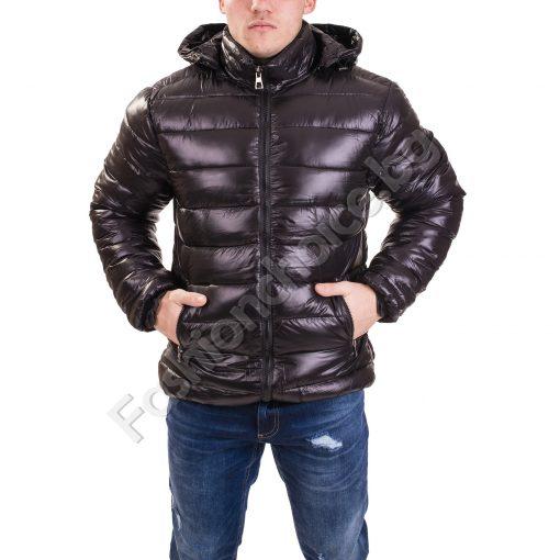 Плътно мъжко яке за зимата с качулка