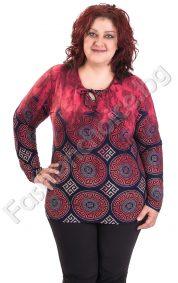 Дамска макси блуза с мотиви версаче в три десена