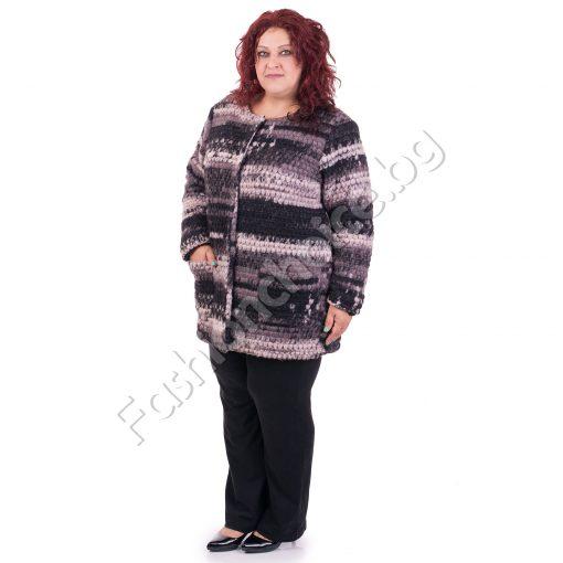 Шикозно вълнено макси палтенце за макси дами