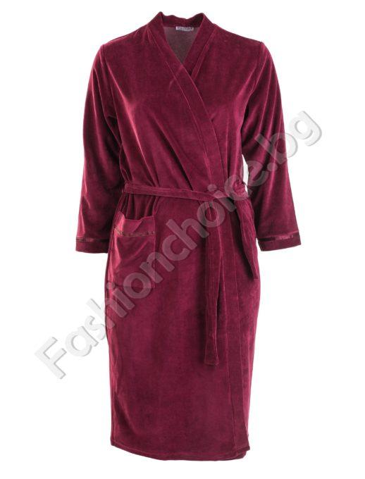 Уютен макси халат от плюшена материя в три цвята
