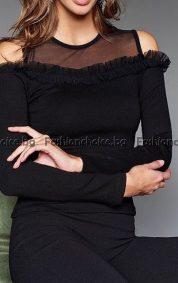 Ефектна дамска блузка с дупки на раменете