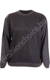 Топъл мъжки макси пуловер от меко фино плетиво