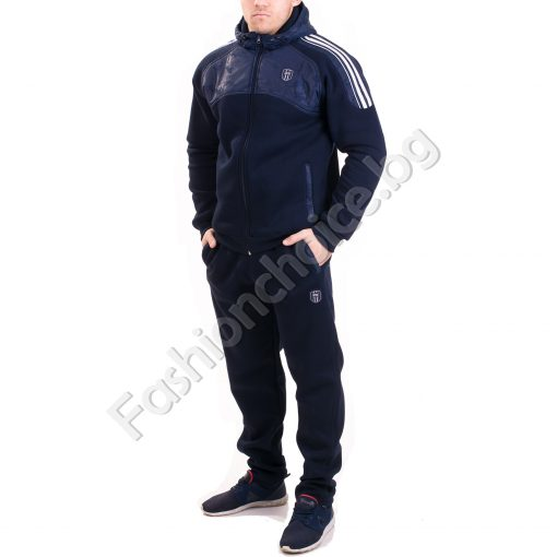 Мъжки зимен спортен комплект с качулка
