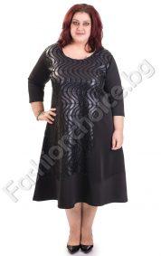 Дамска официална макси рокля с ефектни орнаменти