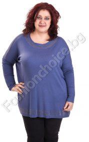 Изчистена макси блуза в модерни зимни цветове