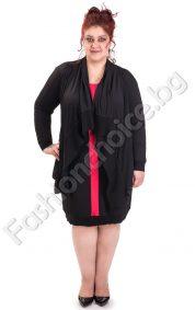 Прекрасен макси сет от рокля и жакет в черно