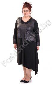 Дизайнерска макси рокля с украсителни копчета