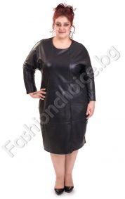 Кожена дамска макси рокля за специални поводи