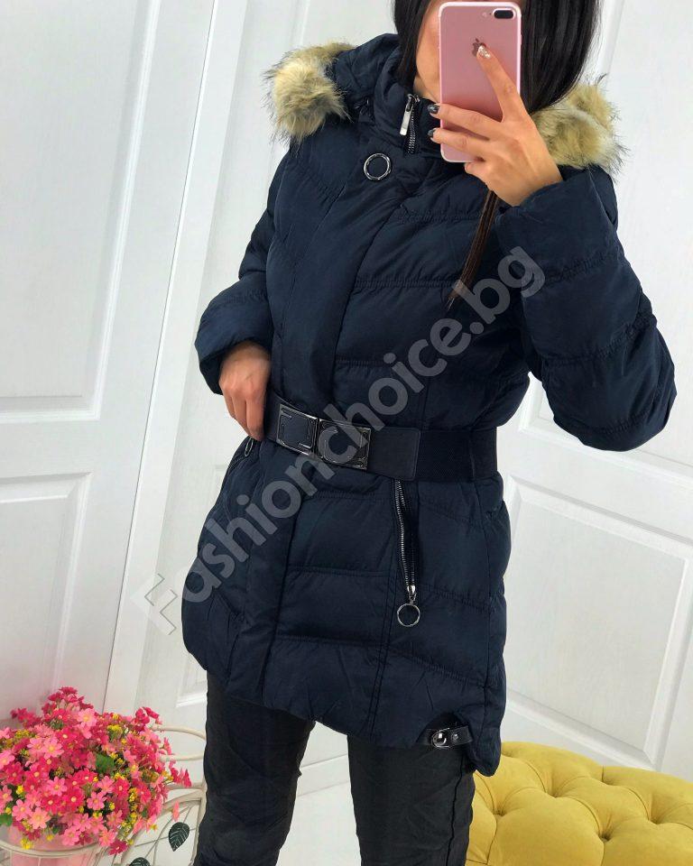 Разкошно зимно плътно дамско яке в три цвята /големи размери/