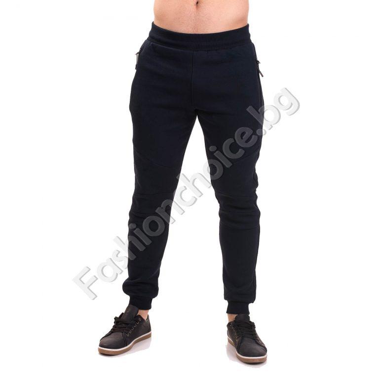Спортно мъжко долнище от плътна ватирана материя