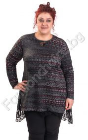 Модерна дамска туника с дантела в актуални цветове