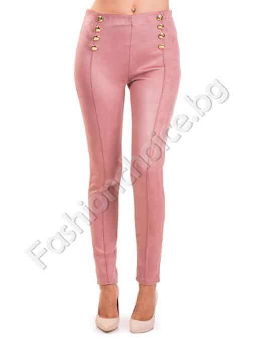 Модерен дамски панталон с висока талия Код 874