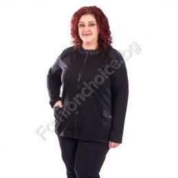 Практично макси спортно горнище в черен цвят