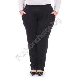 Макси размер долнище в черно с джобчета