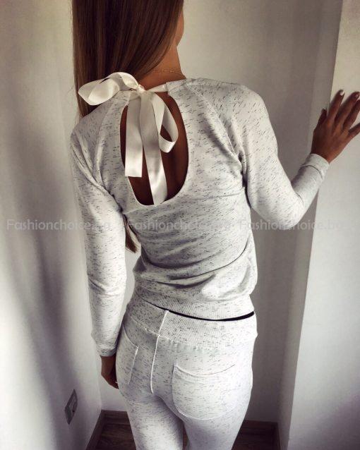 Хит модел дамски екип /сив, черен и бял/